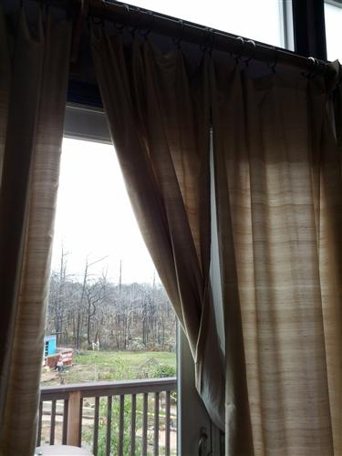 Curtains master bedroom Bastrop home
