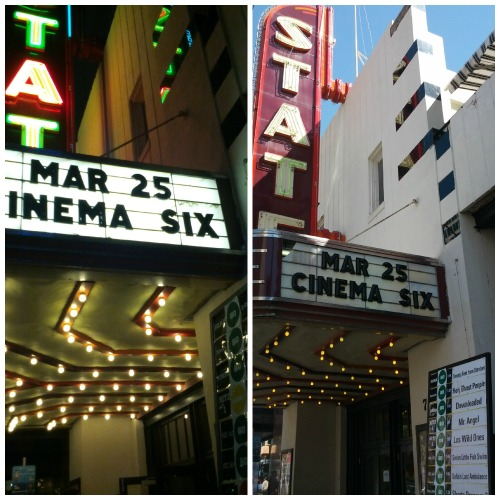 Stateside Theater, night and day.